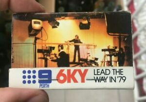 PERTH CHANNEL 9 TELEVISION 6KY RADIO ADVERTISING MATCHES WESTERN AUSTRALIA 1979
