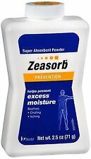 Zeasorb Super Absorbent Powder Excess Moisture Prevention 2.5 oz (Pack of 6)