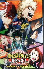 Anime DVD My Hero Academia Season 1+2 English Subtitle Free Shipping
