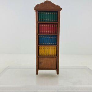 Vintage Dollhouse Miniature Shackman Wood Bookcase Library Shelf Furniture 1:12