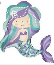 "36"" Mermaid Mylar Foil Balloon Party Decoration Supplies"