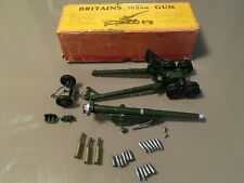 Britains Military 155mm Gun 2064 British & American Services + Extra Shells