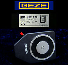 "GEZE Türhaftmagnet effeff ""838 U"", 800N, 24V DC Haft-Magnet 048380 Wandmontage"