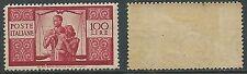 1945-48 ITALIA DEMOCRATICA 100 LIRE GOMMA BICOLORE - B10