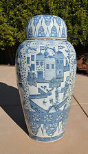 Large Chinese  Blue and White  Porcelain  Vase      M1770