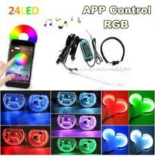 2x24LED RGB headlight Projector Led Devil Eye Demon Eye Lamp headlamp angles eye