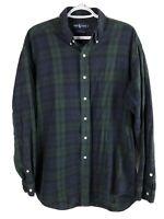 Polo Ralph Lauren Blake Button Down Shirt Mens Large Blue Green Plaid LS Cotton