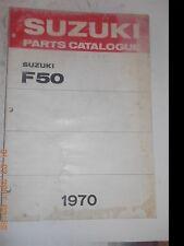 1970 70 SUZUKI F50 F 50 PARTS CATALOG SHOP SERVICE REPAIR MANUAL Catalogue