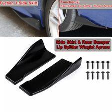 Universal Car Side Skirt Rear Bumper Lip Splitter Diffuser Winglet Aprons Black