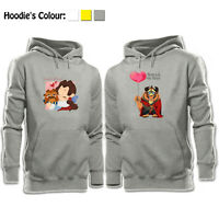 Beauty and the Beast Love Balloon Design Couples Hoodies Sweatshirt Pullover Top