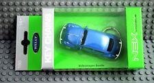 Welly Schlüsselanhänger Volkswagen Beetle  Käfer Blau in 1:60  Neu & OVP