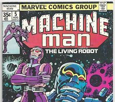 Marvel Comics MACHINE MAN #5 the Living Robot from Aug. 1978 in Fine condition