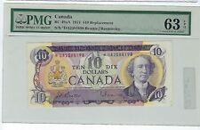 Canada - 10 Dollars Replacement, *DA 1971. BC-49aA. PMG 63 EPQ