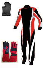 Go Kart Cordura Suit-Red-Black-White-All Sizes( Free Gift Gloves & Balaclava )