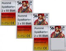 6x55 Rami Cartons Jeu de Cartes Rommekarten Canasta Pont Skat Poker