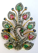 Victorian 2.60ct Rose Cut Diamond Gemstones Women's Brooch Shop Early & Save