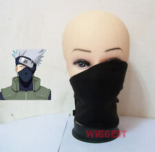 Black Naruto Hatake Kakashi Cosplay Mask Ninja Veil Anbu Costume