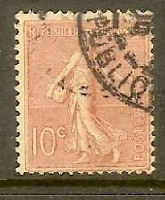 """FRANCE TIMBRE STAMP N°129 """"TYPE SEMEUSE LIGNEE DE ROTY, 10 C ROSE"""" OBLITERE TB"""
