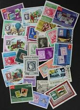 STAMPS ON STAMPS nice collection featuring Philately, 24 different (lot#rg)