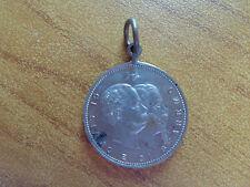 MEDAGLIA CI SIAMO E CI STAREMO ROMA PORTA PIA 1895 diametro 2,5 cm NUM SUBALPINA