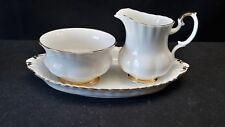 Royal Albert Val D'Or Miniature Creamer Sugar Bowl & Tray