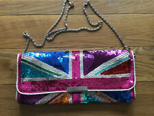 Beautiful Accessorize Sequin Union Jack Evening Bag