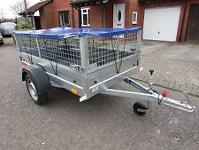 NEW Car camping box trailer 6.8ft*3.8ft  with Mesh and flat cover 750kg