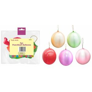 Punchball Ballons Large Inflatable Ballons Mixed Colours Pack of 5