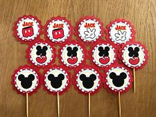 Mickey Mouse themed Personalised Cupcake Topper~Mickey Birthday, Baby Shower