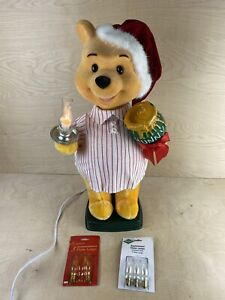 """22"""" Disney Telco Motion-ette Winnie The Pooh Christmas Animated Display Works A+"""