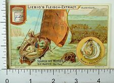 1880's Treasures Of The Sea Lovely Scenes Liebig Victorian 6 Trade Card Set K60