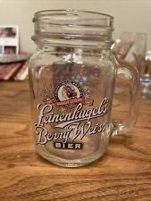 New listing Nice Leinenkugels 2005 Berry Season Weiss Beer Glass Mug Mason Jar With Handle