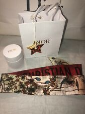 Christian Dior Mitzah Scarf Floral Handbag Accessory Box Charm Gift Bag