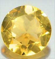CITRINE GEM ROUND CUT 3mm YELLOW GENUINE GEMSTONE NATURAL LOOSE FACETED 1/3 CT
