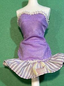Barbie Genuine Mattel 1990s  Lavender Evening/Picnic Floral Dress 🌸