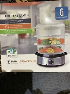 Aigostar Fitfoodie Steel 30INA Steamer Electric 800 W Timer 3 Recipient
