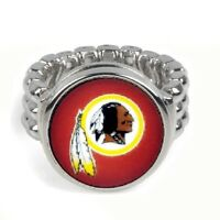 Washington Redskins Silver Mens Womens Football Ring Fits All Sizes w Gift Pk D2