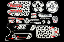 "DECAL SET RALEIGH 12"" STRIKER FOOTBALL STICKER PACK SUIT MANY KIDS BIKES WTFRST2"