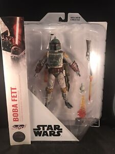"Star wars Disney Store Exclusive Diamond Select BOBA FETT  7"" Action Figure NIB"