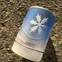 """FESTIVE SNOWFLAKES """"Blue & White"""" Christmas Candle Holder Ornament"""