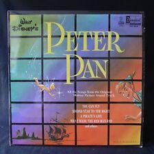 PETER PAN Disney Film Soundtrack DISNEYLAND DQ 1206 UK 1st Press VINYL LP EX