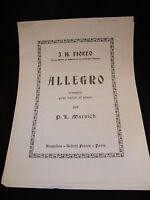 Partition Allegro pour violon et piano J H Fiocco Music Sheet