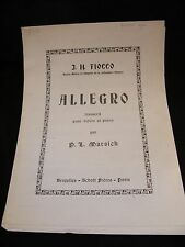 Partition Allegro pour violon et piano J H Fiocco Music Sheet