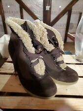 Betseyville Platform Ankle Winter Boot Brown Size
