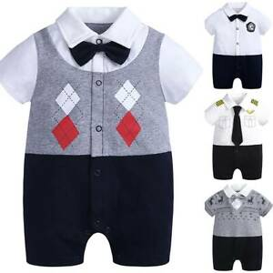 Toddler Baby Boys Gentleman Romper Jumpsuit Outfit Clothes Kids Shorts Playsuits