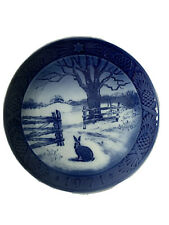 Royal Copenhagen Denmark 7� Christmas Plate 1971 Hare In Winter