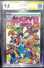 Zeck Beatty SS CGC 9.8 Marvel Age 12 1st Black Suit B4 SpiderMan 252 + 9.8 Bonus