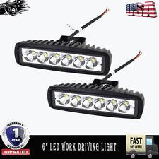6inch Waterproof Spot Beam LED Work Light Car Motorcycle Fog Driving Lamp Pair