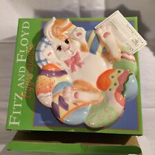 Fitz And Floyd Essentials Eggscapades Collectors Plate Easter
