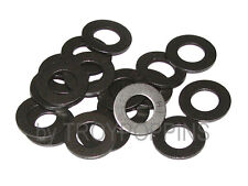 "20-F436 BLACK 3/8"" ID FLAT PLAIN WASHERS HARDENED STEEL FASTENERS HARDWARE PARTS"